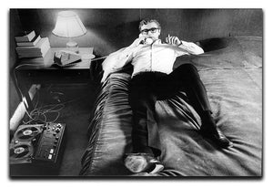 Michael Caine relaxing at home Canvas Print or Poster  - Canvas Art Rocks - 1