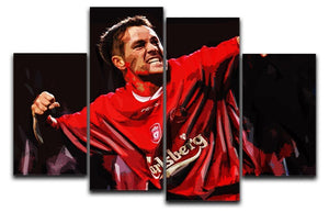 Michael Owen Liverpool 4 Split Panel Canvas  - Canvas Art Rocks - 1