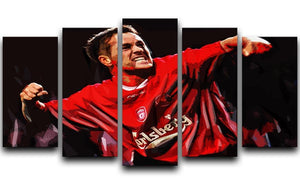 Michael Owen Liverpool 5 Split Panel Canvas  - Canvas Art Rocks - 1