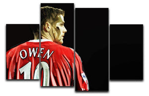 Michael Owen Liverpool Back 4 Split Panel Canvas  - Canvas Art Rocks - 1