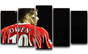 Michael Owen Liverpool Back 5 Split Panel Canvas  - Canvas Art Rocks - 1