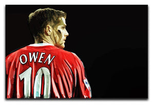 Michael Owen Liverpool Back Canvas Print or Poster  - Canvas Art Rocks - 1