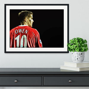 Michael Owen Liverpool Back Framed Print - Canvas Art Rocks - 1