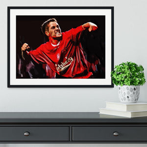 Michael Owen Liverpool Framed Print - Canvas Art Rocks - 1