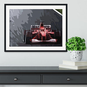 Michael Schumacher Formula 1 Framed Print - Canvas Art Rocks - 1