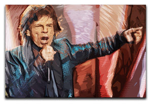 Mick Jagger Live Aid Print - Canvas Art Rocks - 1