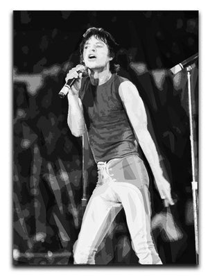 Mick Jagger at Wembley Stadium Canvas Print or Poster  - Canvas Art Rocks - 1