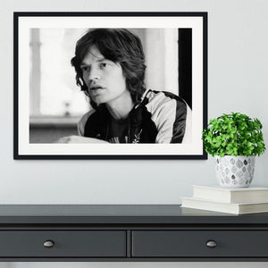 Mick Jagger back home Framed Print - Canvas Art Rocks - 1