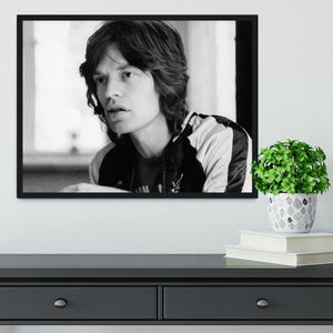 Mick Jagger back home Framed Print - Canvas Art Rocks - 2