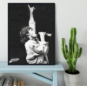 Mick Jagger in Glasgow Scotland Framed Print - Canvas Art Rocks - 2