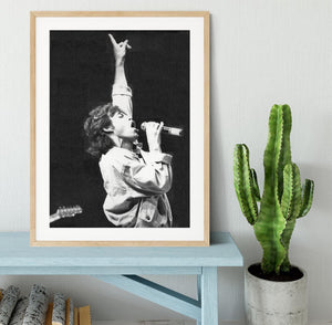 Mick Jagger in Glasgow Scotland Framed Print - Canvas Art Rocks - 3