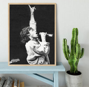Mick Jagger in Glasgow Scotland Framed Print - Canvas Art Rocks - 4