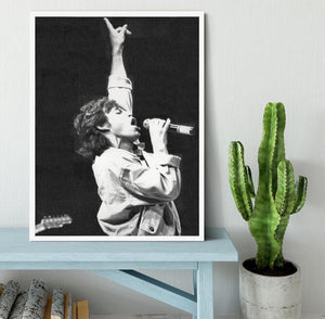 Mick Jagger in Glasgow Scotland Framed Print - Canvas Art Rocks -6