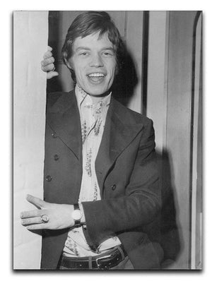 Mick Jagger in a door Canvas Print or Poster  - Canvas Art Rocks - 1