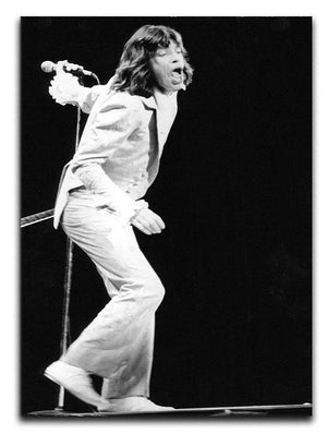 Mick Jagger on stage seventies Canvas Print or Poster  - Canvas Art Rocks - 1