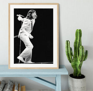 Mick Jagger on stage seventies Framed Print - Canvas Art Rocks - 3