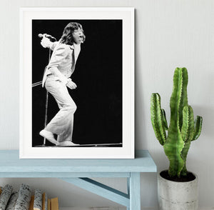 Mick Jagger on stage seventies Framed Print - Canvas Art Rocks - 5