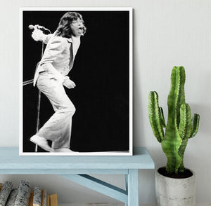 Mick Jagger on stage seventies Framed Print - Canvas Art Rocks -6