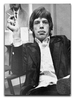 Mick Jagger with a smoke Canvas Print or Poster  - Canvas Art Rocks - 1
