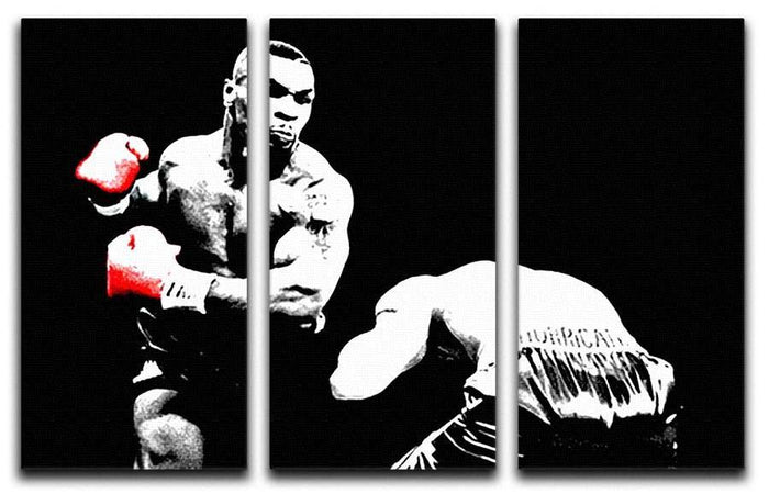 Mike Tyson Knockout 3 Split Panel Canvas Print