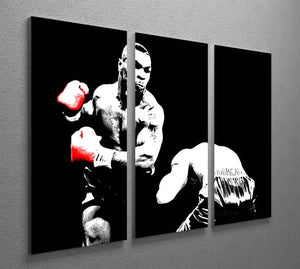 Mike Tyson Knockout 3 Split Panel Canvas Print - Canvas Art Rocks - 2