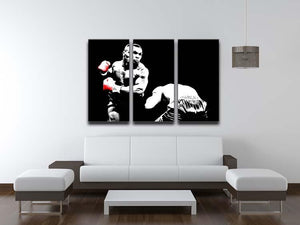 Mike Tyson Knockout 3 Split Panel Canvas Print - Canvas Art Rocks - 3