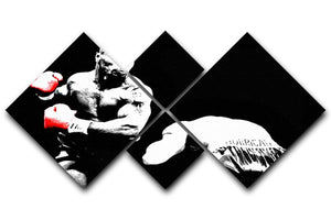 Mike Tyson Knockout 4 Square Multi Panel Canvas  - Canvas Art Rocks - 1