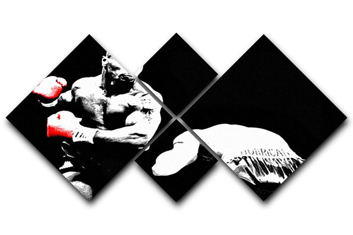 Mike Tyson Knockout 4 Square Multi Panel Canvas