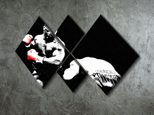 Mike Tyson Knockout 4 Square Multi Panel Canvas - Canvas Art Rocks - 2