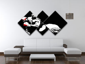 Mike Tyson Knockout 4 Square Multi Panel Canvas - Canvas Art Rocks - 3