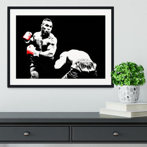Mike Tyson Knockout Framed Print - Canvas Art Rocks - 1