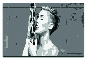Miley Cyrus Pop Art Canvas Print or Poster  - Canvas Art Rocks - 1