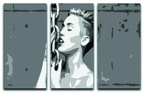 Miley Cyrus Pop Art 3 Split Panel Canvas Print - Canvas Art Rocks - 1
