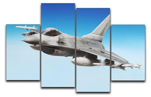 Military fighter jet close up 4 Split Panel Canvas  - Canvas Art Rocks - 1