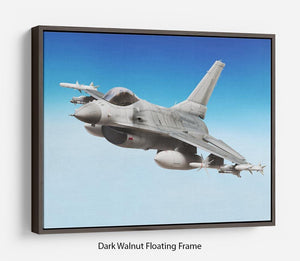 Military fighter jet close up Floating Frame Canvas