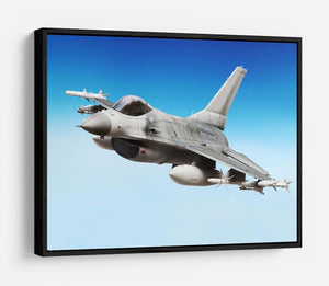 Military fighter jet close up HD Metal Print