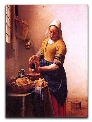 Milk maid by Vermeer Canvas Print or Poster - Canvas Art Rocks - 1
