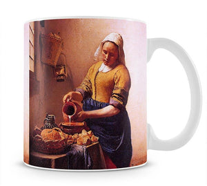 Milk maid by Vermeer Mug - Canvas Art Rocks - 1