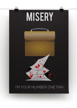 Misery Im Your Number One Fan Minimal Movie Canvas Print or Poster - Canvas Art Rocks - 2