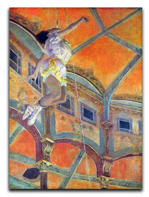 Miss Lala in Circus Fernando by Degas Canvas Print or Poster - Canvas Art Rocks - 1