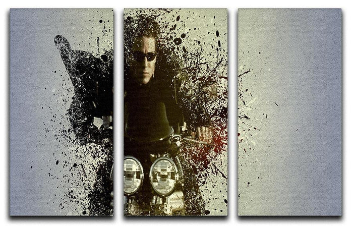 Mission Impossible Pop Art 3 Split Panel Canvas Print