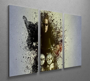 Mission Impossible Pop Art 3 Split Panel Canvas Print - Canvas Art Rocks - 2