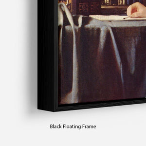 Mistress and maid by Vermeer Floating Frame Canvas - Canvas Art Rocks - 2