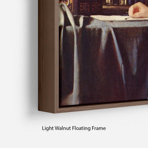 Mistress and maid by Vermeer Floating Frame Canvas - Canvas Art Rocks - 8