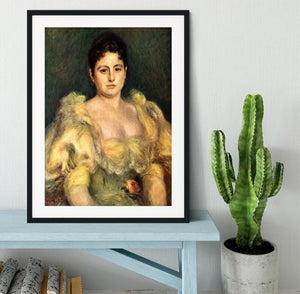 Mme Stephen Pichon by Renoir Framed Print - Canvas Art Rocks - 1
