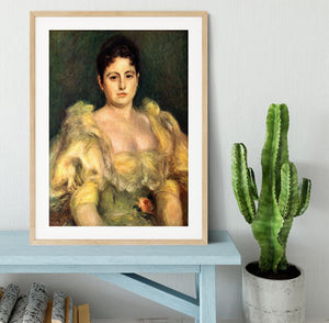 Mme Stephen Pichon by Renoir Framed Print - Canvas Art Rocks - 3