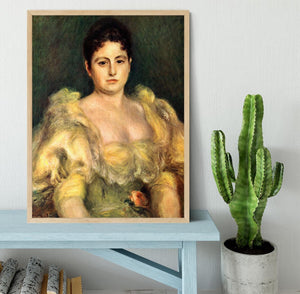 Mme Stephen Pichon by Renoir Framed Print - Canvas Art Rocks - 4