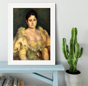 Mme Stephen Pichon by Renoir Framed Print - Canvas Art Rocks - 5