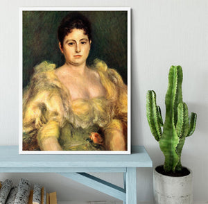 Mme Stephen Pichon by Renoir Framed Print - Canvas Art Rocks -6