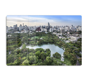 Modern city in a green environment HD Metal Print